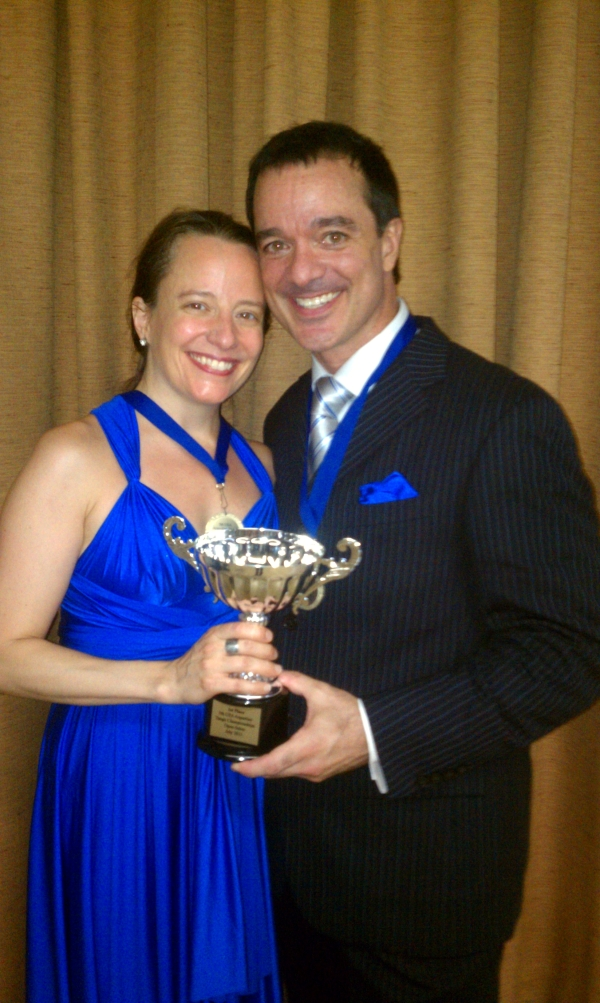 Gayle Madeira and Sid Grant championship photo