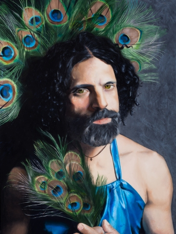 """Mr. Peacock"" - Oil on board, 18"" x 24"""
