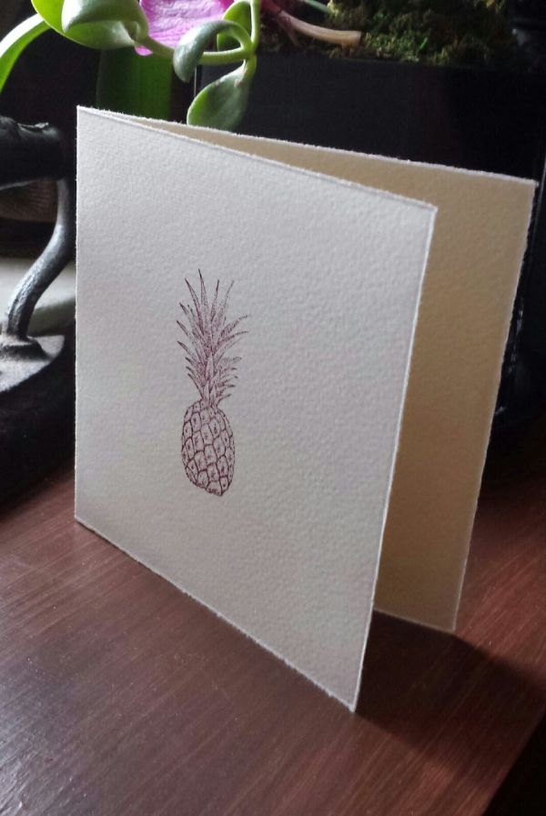 Handmade pineapple card