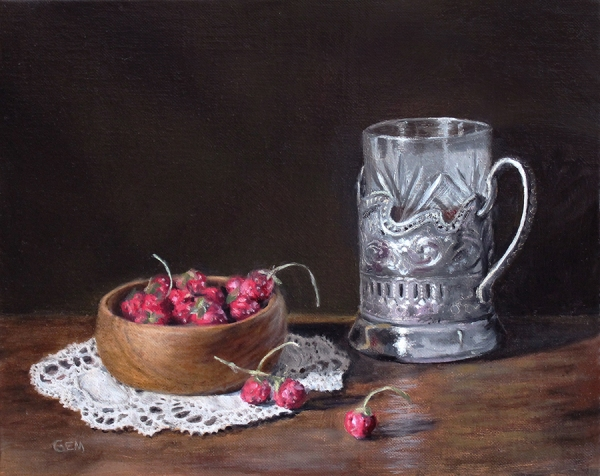 Russian Glass with Berries